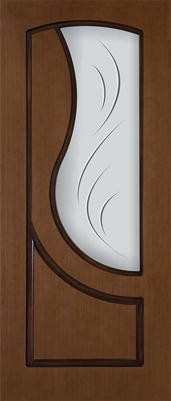 Шпонированная дверь Сочи, шпон дуб тон янтарь