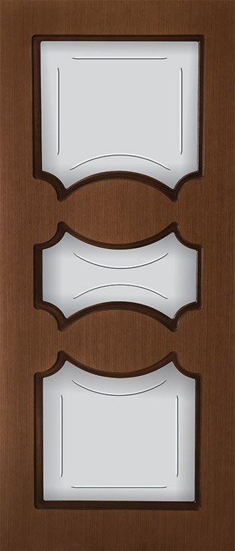 Шпонированная дверь Токио, шпон дуб тон янтарь